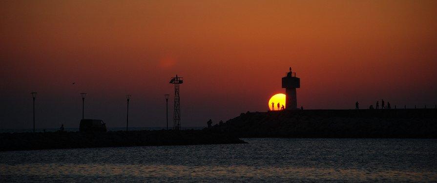 Sonnenuntergang in Sile